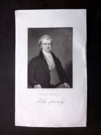 Gallery of Distinguished Americans C1835 Antique Print. Felix Grundy